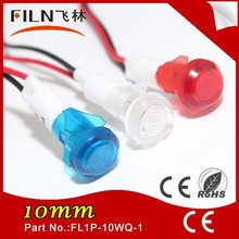 Sample free Nylon Green signal light tower 10mm led pilot lamp