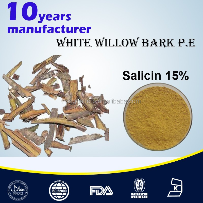 Natural white willow bark extract powder salicin 15%-98% white willow bark powder Salix Abla Extract Powder