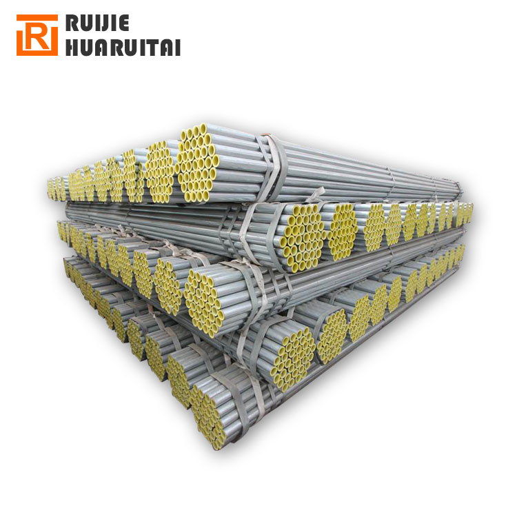 S235JR Carbon Steel Hot Dipped Galvanized Round Steel Pipes
