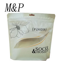stand up socks&hosiery packaging pouch with ziplock