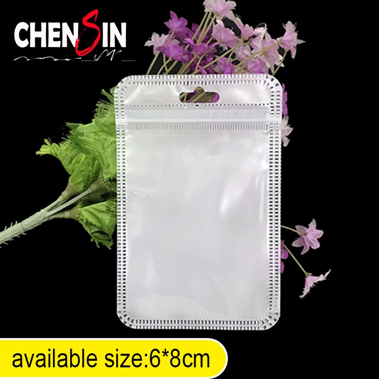 6*8cm custom fishing lure bag Cheap Plastic White Clear Valve Zipper Packing Bag Best Plastic Packaging Bags Polybag