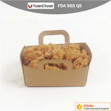 disposable customized printed paper take away chicken packaging boxes