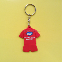 NBA Polo shirt Soft PVC rubber keychain / silicone keyring / innovative plastic keychain