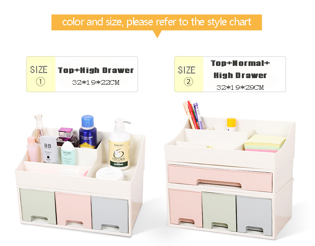 Wholesale makeup box plastic drawer jewelry organizer