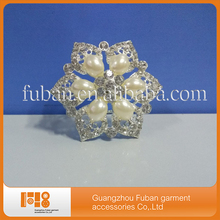 New product Pearl flower rhinestone napkin ring or table decoration