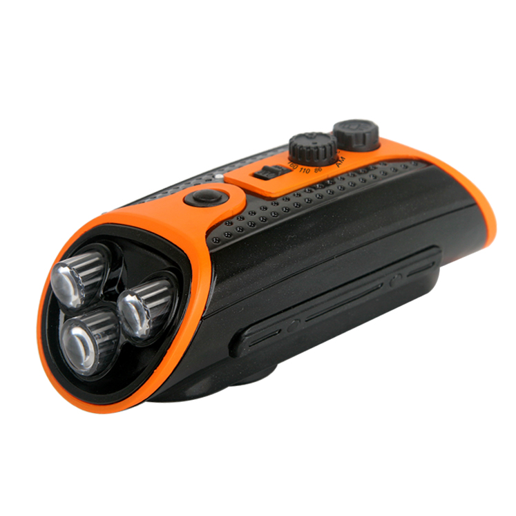 Portable Multi Band AM FM Hand Crank Dynamo Radio with Torch Light