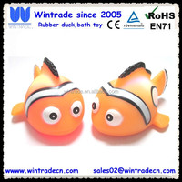 LED rubber lighting clown fish wholesale children bath toy