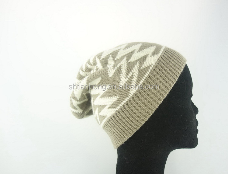 Cheap price custom special knitted long beanie hat and scarf