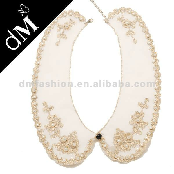 Fashion jewelry collar detachable with imitation Pearls