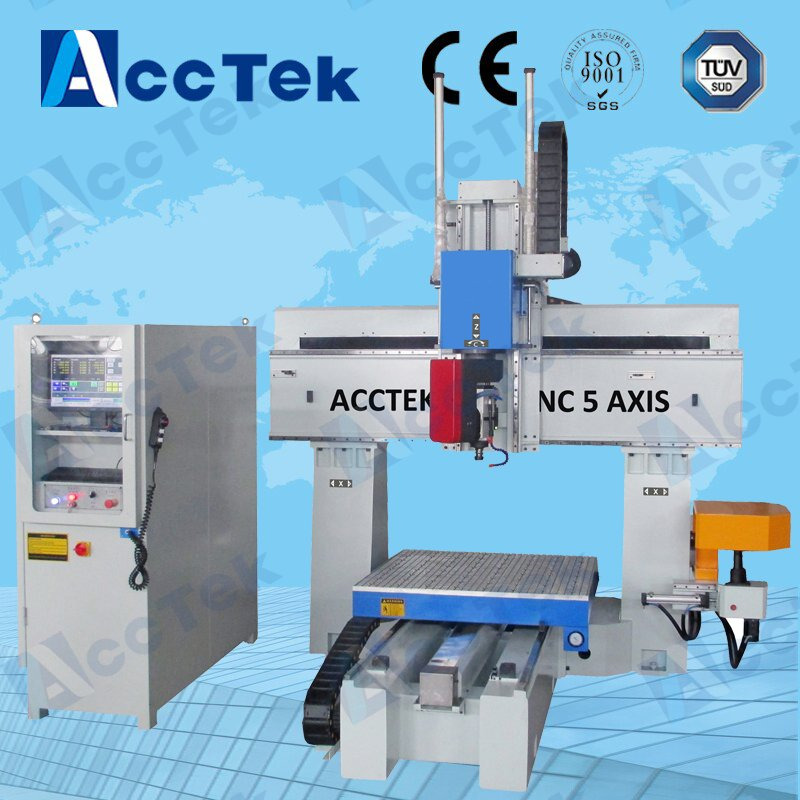 Directly manufacturer 5 axis cnc milling machine AKM1212 with 10kw air cooling spindle