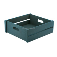 New custom painting color wooden tray crate, wood crate with handle holes