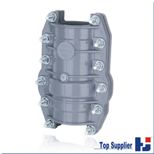 best price HJ DIN standard UPVC pipe fitting no stop water repairing coupling
