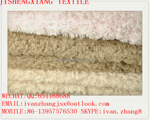 Jishengxiang textile 150d drapery brushed knitted 100% polyester sherpa fleece fabric