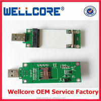 Mini PCI-E to USB Adapter with sim card slot ---Wellcore manufacturer wholesale