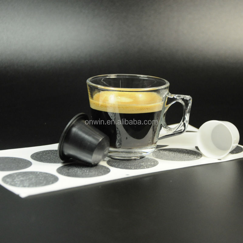 ODM Aluminum sticker for refilling /sealing nespresso pod