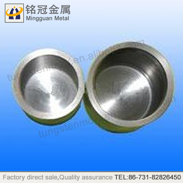 99.95% Sapphire crystal tungsten crucible,smelting crucibles for jewelry