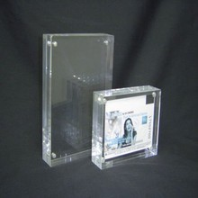 square acrylic photo frame hot sexy girl pictures display stand
