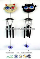 wind up toys halloween cat wind chime