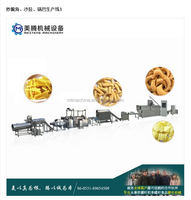Fried wheat flour pasta snack food extruder machine process line