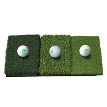 New High Quality Import Grass Mat Attack Tri-Turf Portable Golf Hitting Mat with 3 Differernt Style Grass (25in x 16in)