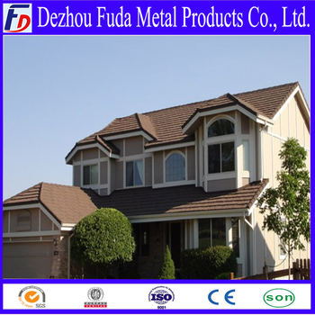 Colorful galvanizing coat stone coated roof tiles