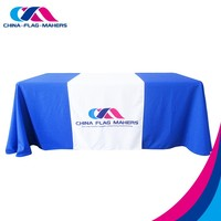 custom trade show display oriental table cover runner
