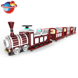 Amusement Park Outdoor Lighted Christmas Trackless Train Rides For Sale+Tourist Ride Train