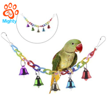 Bird Bells Toy for Parrot African Greys Cockatoo Amazon Macaw Budgie Parakeet Cockatiel Conure Lovebird Finch Canary Cage