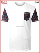 Design Your Own Plain Cotton Pocket T Shirt Wholesale H&M clothing