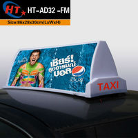 magnetic taxi led topper light advertising