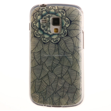Soft TPU Back Cover Case for Samsung Galaxy S Duos S7562 - Multi-leaves Flower