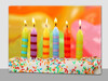 lighted birthday candle picture