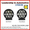 Life time warranty 70w cree offroad car led work light for truck, tractors and vehicles