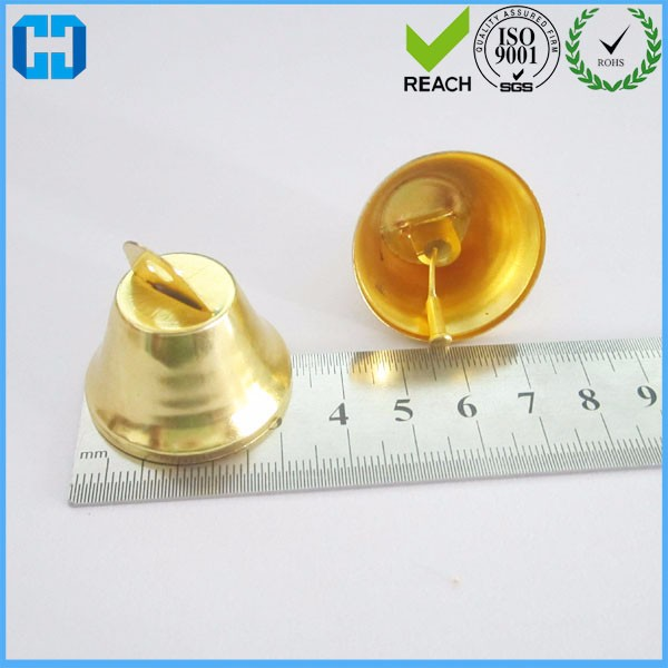 Anti-Brass 32 MM Metal Hanging Jingle Bell For Outdoor Tree Decoration