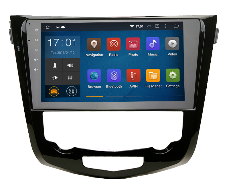 Cheap 7 inch Android 5.1.1 OBD2 Black colored car dvd GPS navigation for Nissan X Trail Qashqai 2014 2015