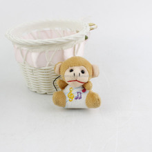 2016 Hot Sale High Quality China wholesale stuffed animal customized little monkey plush keychain toy, cute baby monkey
