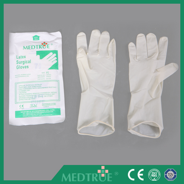 Very Cheap Disposable Sterilized Latex Surgical Gloves Without Powder ,Smooth Surface with CE/ISO Certification (MT58064111)