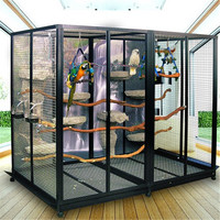 Colorful Customized large garden bird metal cage parrot cage