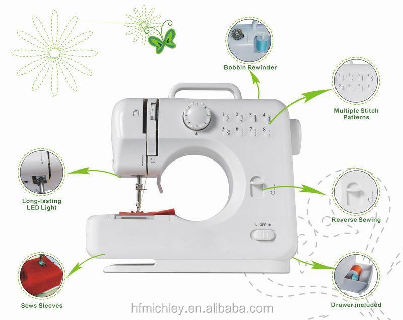 Single needle lockstich domestic multi function sewing machine with perfect stitch FHSM-505, sewing machine for jeans