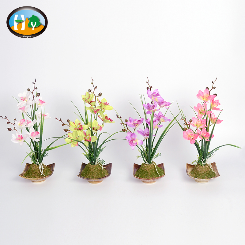 Factory direct Hot sell Artificial Flower Orchid flowers Bonsai For Indoor Home Weddings decorations