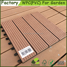 Easily Assembled 300x300mm Interlock DIY WPC Deck Tile