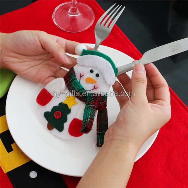 christmas table decoration knife fork bag holder table christmas bag