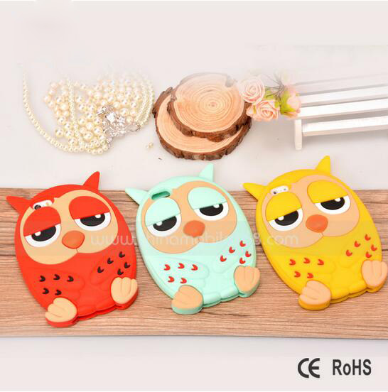 [somostel] fashionable design mobile phone cover soft rubber cases silicone custom for iphone 6 case 3d for iphone 6