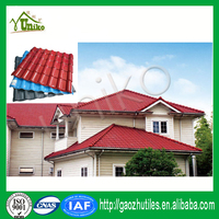 Thermal insulation classical spanish roman roofing asa synthetic resin roof tile