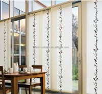 2016 hot sale panel curtain / fashion design sliding panel curtains / panel blind for room divider