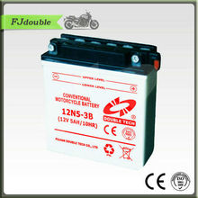 High Quality Dry Cell Motorcycle Battery 12N5-3B(12V 5AH)