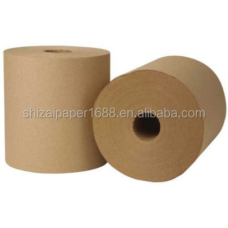 Industrial Kraft Brown Paper Hand Towel Roll - 12 per Case