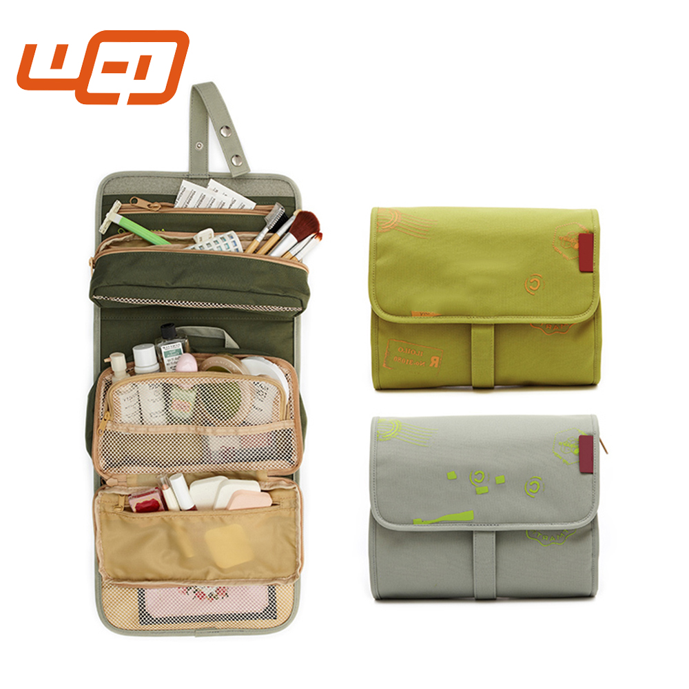 Wholesale Hotsale Ladies Pretty Cosmetic Lining Portable Waterproof Fabric Quilted Travel Toiletry Bags