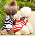 Wholesale high quality pet dogs summer T-shirt ,dogs striped navy suit ,handsome dogs navy vest