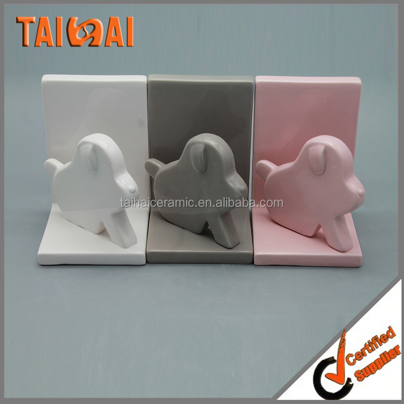 Outstanding Ceramic Glossy Finish Bookend Pair